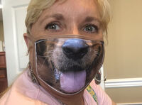Golden Retriever Mask